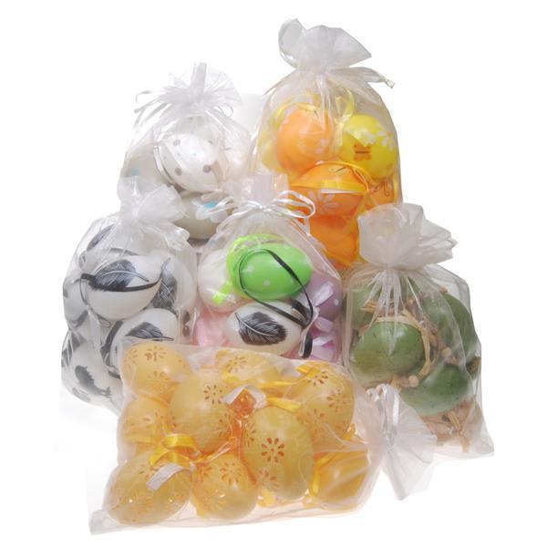 Σακουλάκι με 12 διακοσμητικά πασχαλινά αυγά. Από πλαστικό.