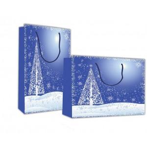 "Next χάρτινες τσάντες ""Χριστουγεννιάτικο τοπίο"" Υ26x36x12 ΤΣΑΝΤΕΣ ΔΩΡΟΥ ΧΡΙΣΤΟΥΓΕΝΝΙΑΤΙΚΕΣ"