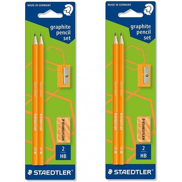 2 X STAEDTLER Wopex Neon Graphite Pencil Kit