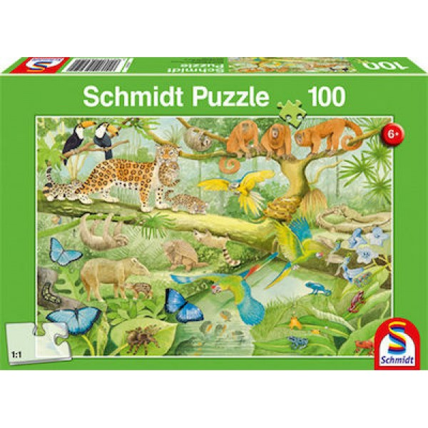 Animals in the Rainforest 100pcs