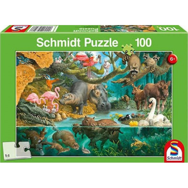 Animal Families on the Banks 100pcs (56306) Schmidt Spiele